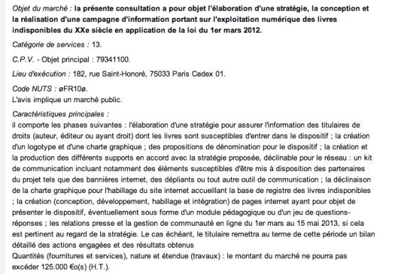 Avis n°12-240386 publié le 18/12/2012 - BOAMP n°244B, Annonce n°87